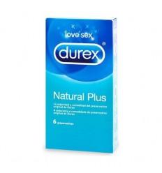 DUREX PRESERV NATURAL PLUS  6 UD EASY ON