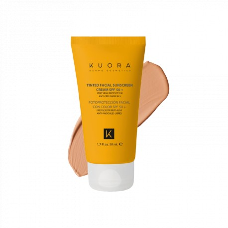 KUORA SUN SPF 50 CON COLOR FACTOR DE PROTECCION